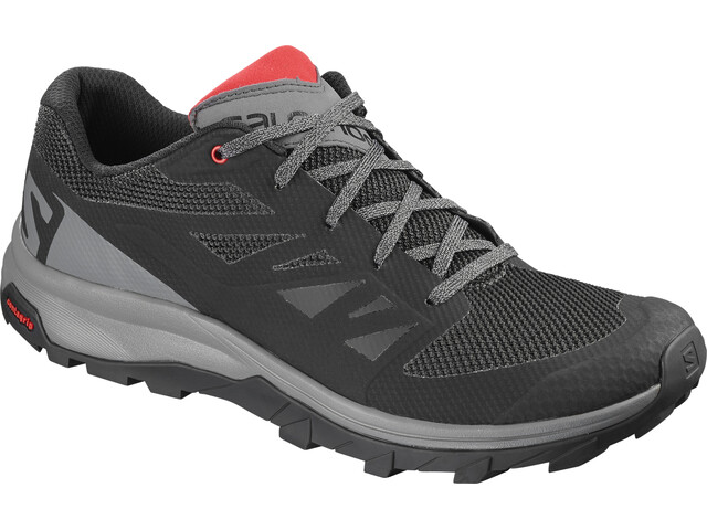 Salomon Outline Shoes Herre black/quiet shade/high risk red